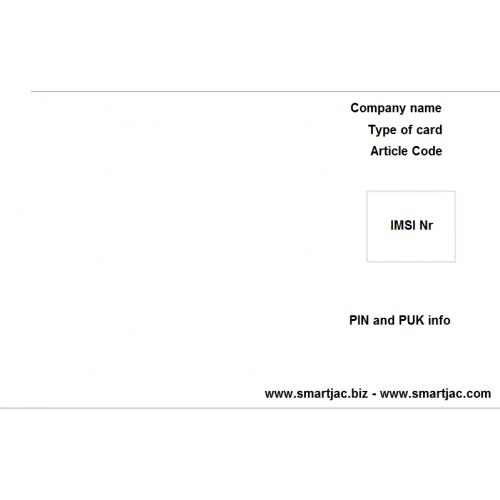 Smartjac Test (U) SIM card - Configure Your SIM card !